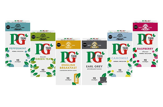 PG tips hot tea flavours