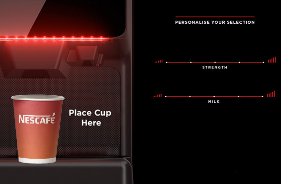 Nescafé Futuro E A Bean to Cup Coffee Vending Machine