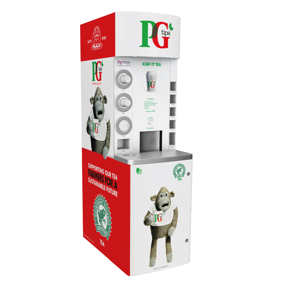 PG tips to go machine | eXpresso PLUS