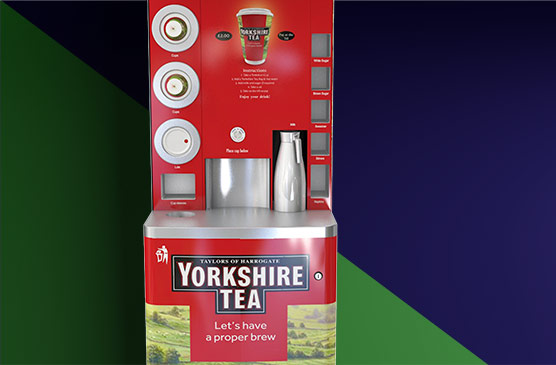 Yorkshire tea to go machine is easy to clean